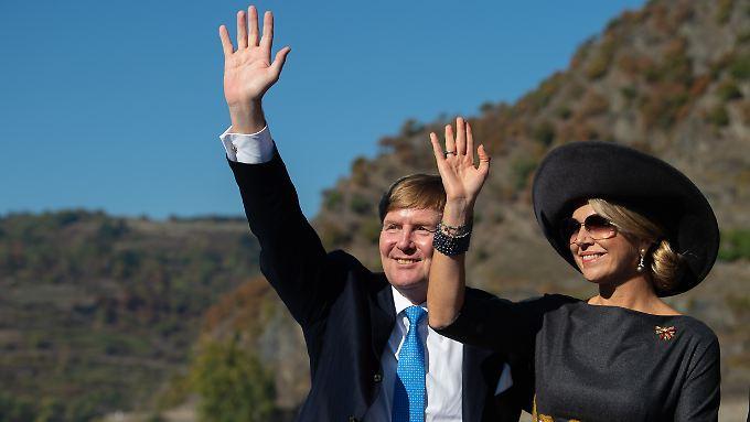 König Willem-Alexander und seine Frau Máxima besuchen Deutschland - Bootstour inklusive.