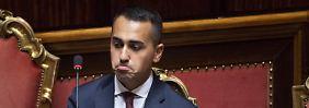 Italiens Vizepremier Luigi die Maio vergangene Woche bei einer Anhörung zur italienischen Finanzpolitik.