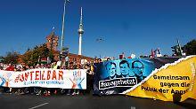 Großkundgebung in Berlin: Zehntausende protestieren gegen Rassismus
