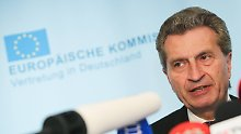 Spitzt sich Haushaltsstreit zu?: Oettinger lehnt italienischen Etat ab