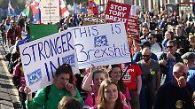 Großdemo gegen Brexit in London: Hunderttausende fordern neue Abstimmung