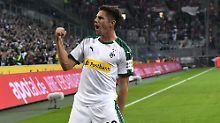 Jonas Hofmann gelang beim Heimsieg seiner Borussia Mönchengladbach gegen den 1. FSV Mainz ein Doppelpack.