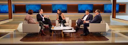 Wills Gäste, von links nach rechts: Annette Dittert, Sir Sebastian Wood, Sigmar Gabriel, Dirk Schümer