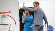 Am Morgen hatten sich Harry und Meghan von den Bewohnern des Inselkönigreichs Tonga verabschiedet.