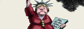 Merkel galt als Kämpferin für den Klimaschutz - aus dem später der Dieselschutz wurde.
