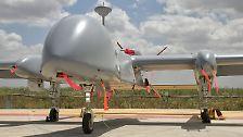 Für 900 Millionen Euro hat die Bundesregierung israelische Aufklärungsdrohnen vom Typ Heron TP für neun Jahre geleast.