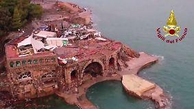 Tote und Chaos nach Unwettern: Drohnenbilder zeigen Zerstörung in Italien