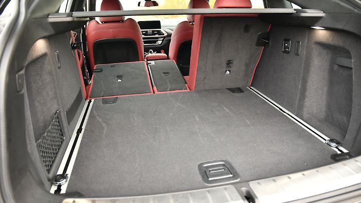 525 bis 1430 Liter Stauraum bietet der BMW X4.