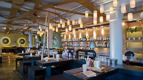 """Restaurant der Burgerkette """"Peter Pane"""" in Binz, Mecklenburg-Vorpommern."""