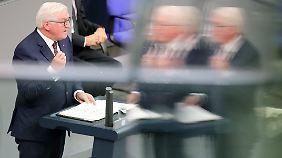 Steinmeier heute im Bundestag.