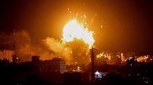 Reaktion auf Raketenangriffe: Israel bombardiert Einrichtungen der Hamas