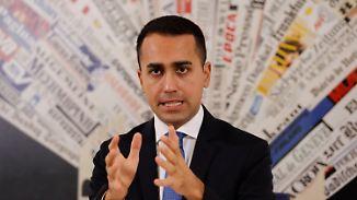 """Frist für Italien läuft ab: Di Maio: EU-Regeln bedeuten """"selbstmöderischen Haushalt"""""""