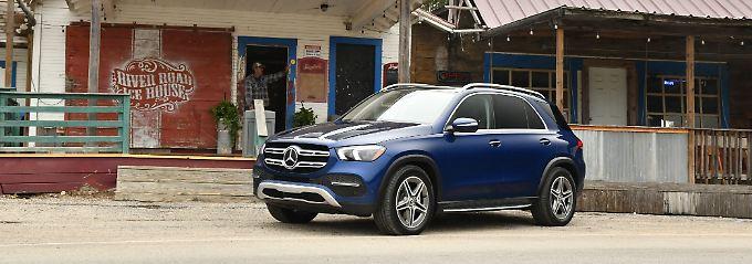 Der neue Mercedes GLE auf texanischen Straßen.