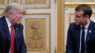 US-Präsident Donald Trump ist wenig begeistert von Macrons Idee einer Europa-Armee.