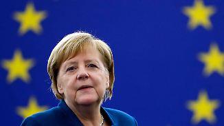 """EU-Armee und Asylpolitik: Für Merkel ist Europa """"die beste Chance"""""""