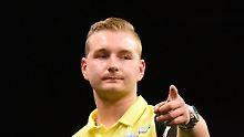 Zuckerguss auf Darts-Grand Slam: Van den Bergh wirft Neun-Darter