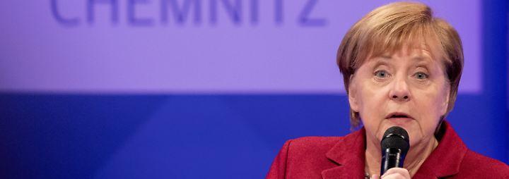 """Merkel in Chemnitz: """"Ich weiß, mein Gesicht polarisiert"""""""