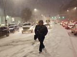 Tote und Verkehrschaos: Winterstürme überraschen Osten der USA