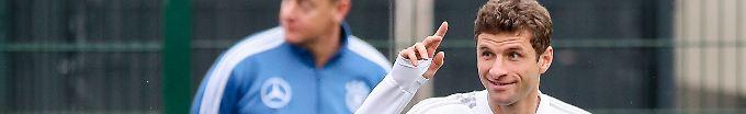 Der Sport-Tag: 22:12 Da ist die Nummer 100 für Thomas Müller ...