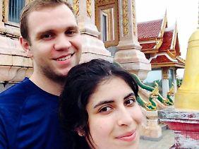 Der Brite Matthes Hedges, hier mit seiner Frau, wird in Abu Dhabi der Spionage bezichtigt.