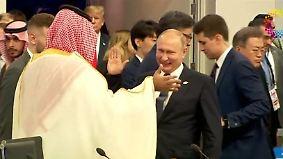 G20 ringen um Einheit: Merkel entspannt, Putin sorgt für Kopfschütteln