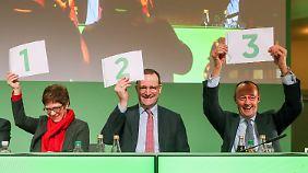 Merz hat beim Applaus die Nase vorn: CDU-Kandidaten beenden Schaulaufen