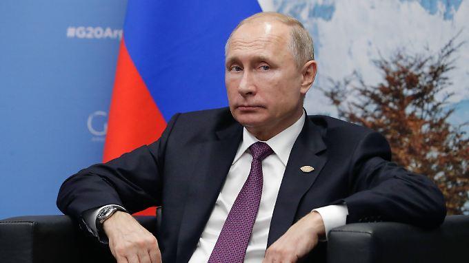 Sieht die Schuld bei der Ukraine: Wladimir Putin.