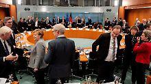 Angela Merkel beim Treffen mit Vertretern der Kommunen im Kanzleramt.