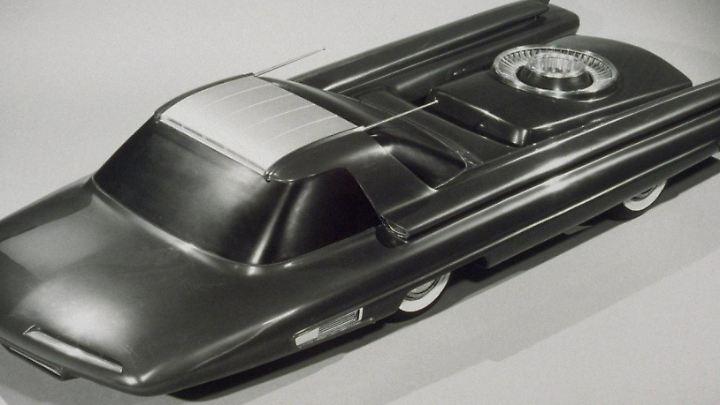 Nucleon: So stellt man sich bei Ford 1956 ein Auto mit Atomantrieb vor.