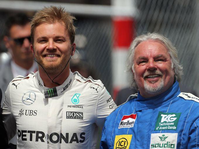 Sohn und Vater, beide Formel-1-Weltmeister: Nico und Keke Rosberg.
