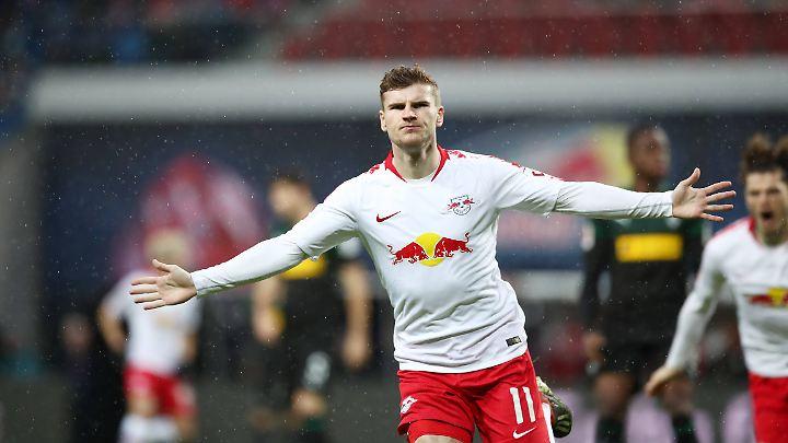 Timo Werner soll aller Voraussicht nach weiter für RB Leipzig stürmen.