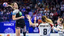 Alicia Stolle trifft gegen Ungarn neunmal - und ist die beste Torschützin.