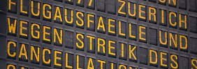 Warnstreiks an drei Flughäfen: Tarifstreit löst neues Flugchaos aus