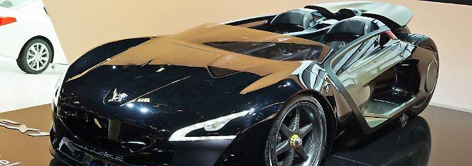 Der Peugeot EX1 ist eine reine Designstudie.