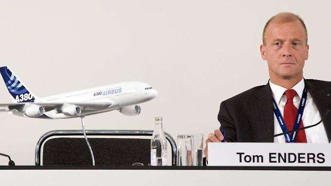 Tom Enders sagt, Airbus wolle des Rest der Kredite nicht zurückzahlen.