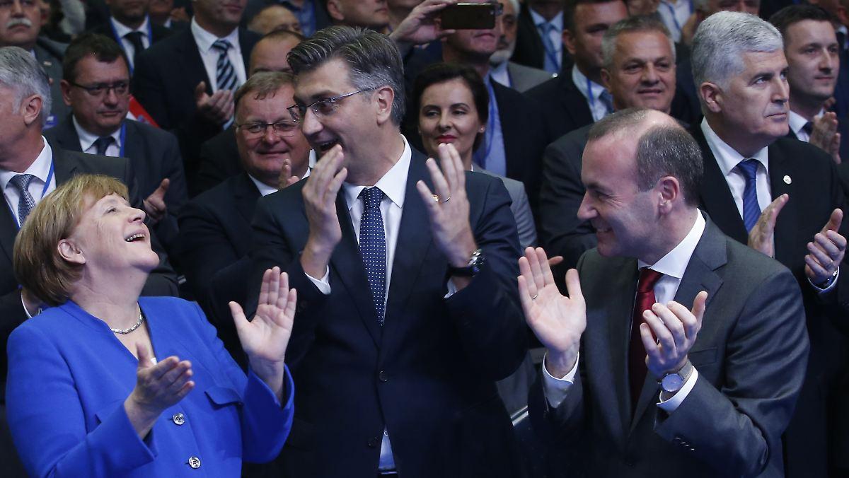 Merkel und Weber mobilisieren gegen Rechte