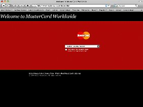 Derzeit nicht erreichbar: Die Website von Mastercard.