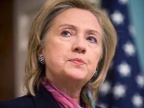 """""""Bisschen dumm angestellt"""": US-Außenministerin Clinton."""
