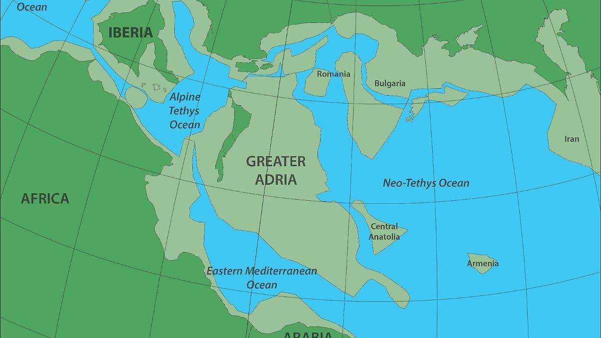 Kontinent versank unter Europa