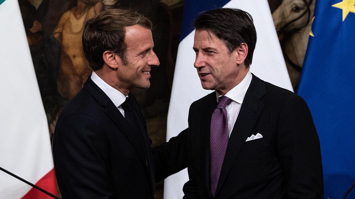 Macron und Conte fordern EU-Mechanismus