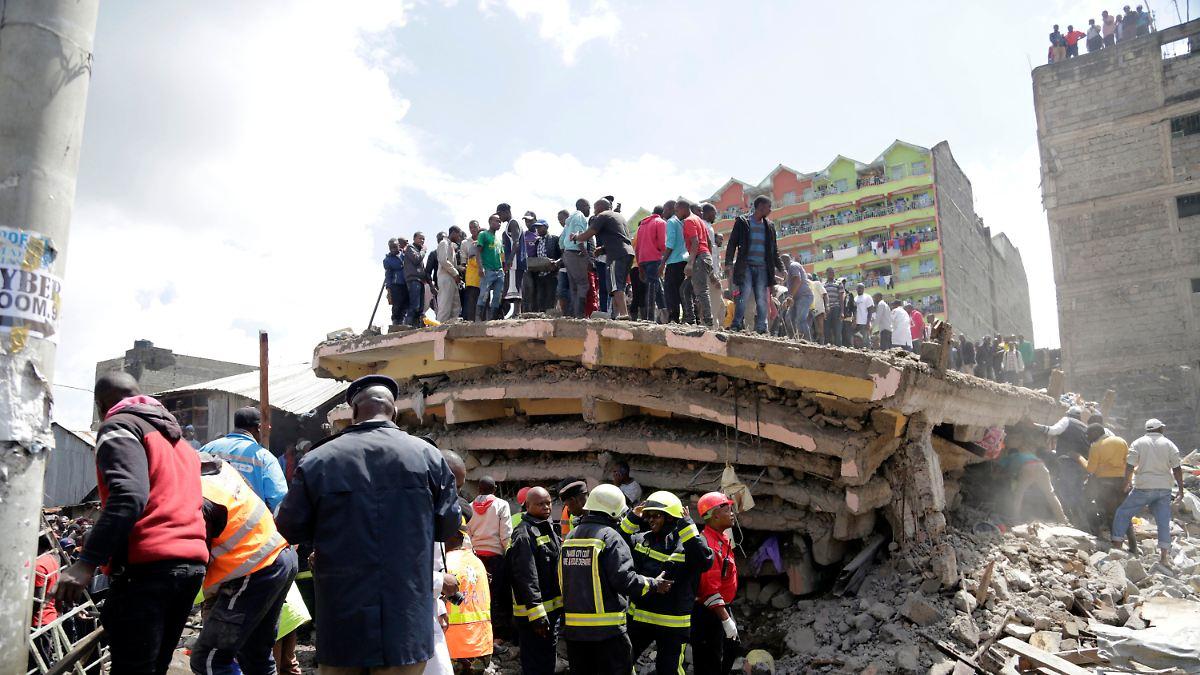 Sechsstöckiges Gebäude in Nairobi eingestürzt