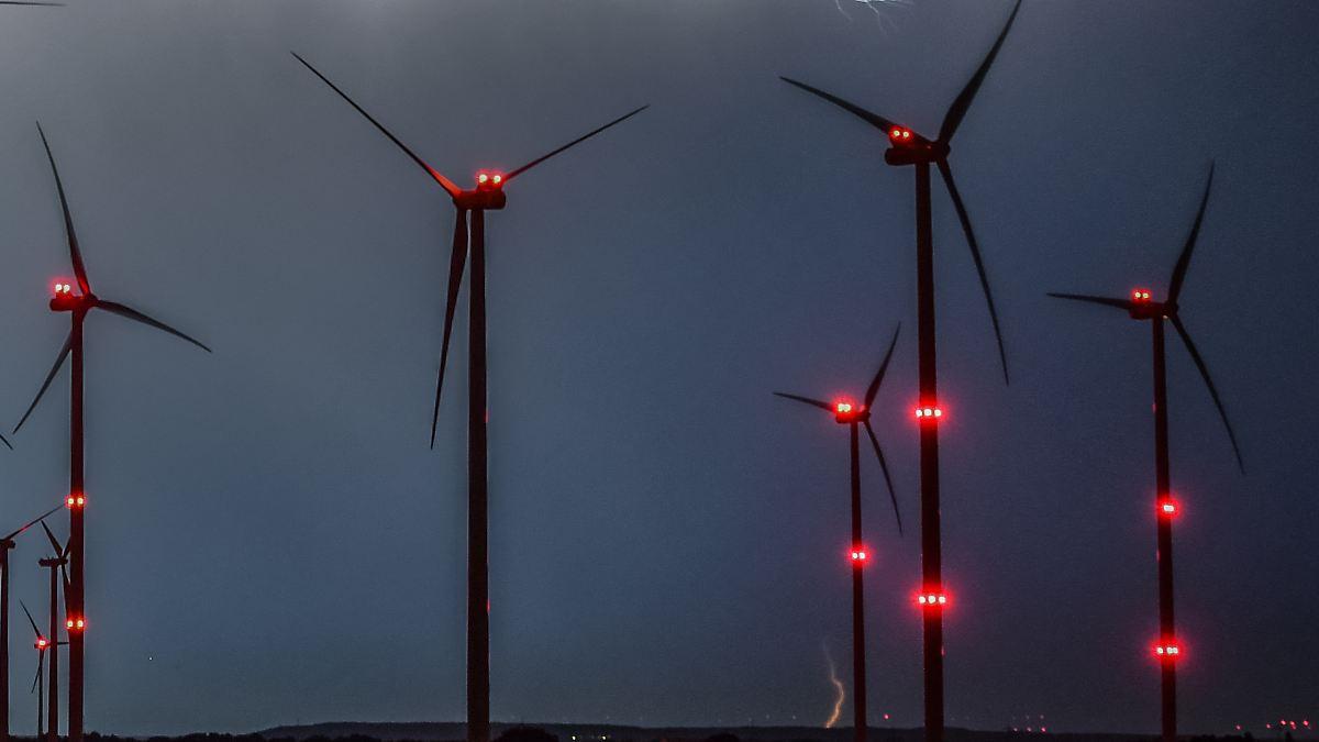 Windräder sollen seltener leuchten