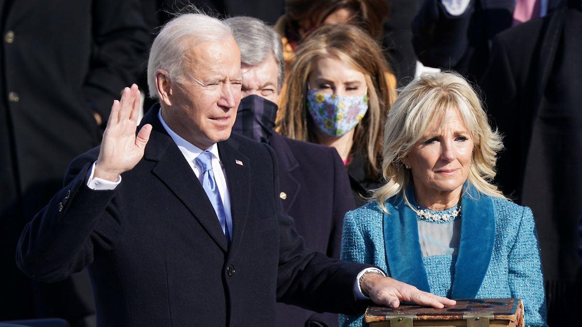 Joe Biden als 46. Präsident der USA vereidigt