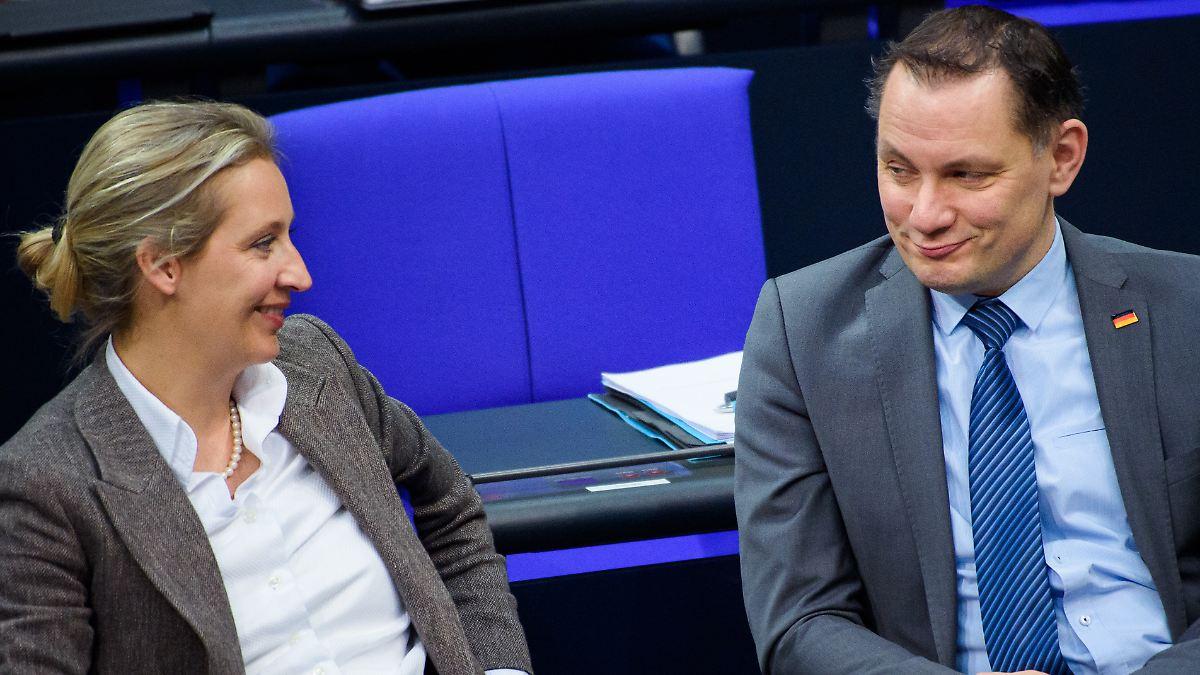 Im Team mit Parteichef Chrupalla: Weidel strebt AfD-Spitzenkandidatur an