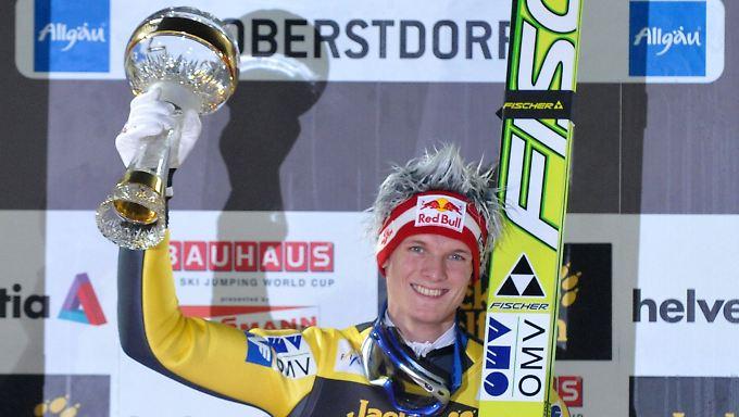 Sieger in Oberstdorf, mit gewaltigem Vorsprung: Thomas Morgenstern aus Österreich.