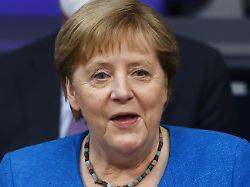 """245868011 - Merkel zieht ein bisschen Bilanz: """"Tja, ich war halt Umweltministerin, nicht?"""""""