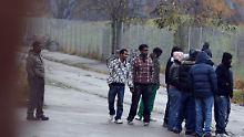 In der Asylbewerberunterkunft Augsburg.