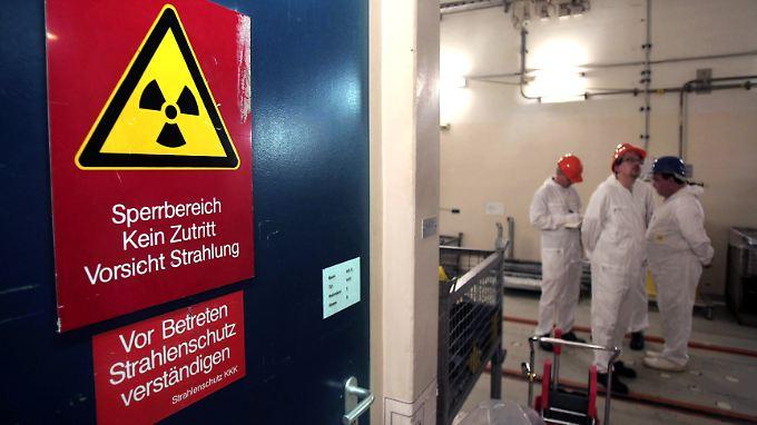 Gefährlich ist es nach offizieller Darstellung nur im Sperrbereich (Aufnahme aus dem Kernkraftwerk Krümmel).