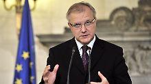 """""""Es gibt keinen Grund, sich zurückzulehnen"""": Olli Rehn (Archivbild)."""