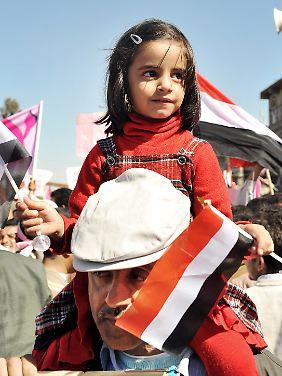In Jemen verliefen die Proteste bislang friedlich.